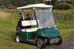 Golf Cart. Small buggy for playing on a golf course Royalty Free Stock Photo
