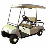 Golf Cart. 3D Computer Render of an Golf Cart Royalty Free Stock Image