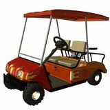 Golf Cart. 3D Computer Render of an Golf Cart Royalty Free Stock Images