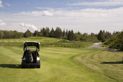 Golf Cart. On a fairway in Prince Edward Island Canada Royalty Free Stock Images