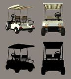 Golf Cart. Digital golf cart for your artistic creations and/or projects Royalty Free Stock Photo