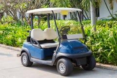 Golf cart. Or club car at golf course Stock Photo