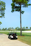 Golf Cart. On path of golf course Stock Image