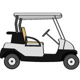Golf cart. Cartoon illustration of an empty golf cart Royalty Free Stock Photo
