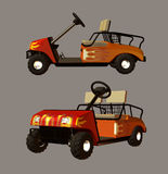 Golf Cart. Digital golf cart for your artistic creations and/or projects Stock Photos
