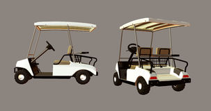 Golf Cart. Digital golf cart for your artistic creations and/or projects Royalty Free Stock Photos