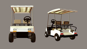 Golf Cart. Digital golf cart for your artistic creations and/or projects Stock Image