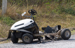 Golf cart accident. Stock Image