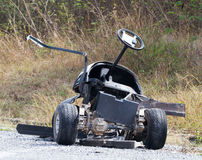 Golf cart accident  in golf course. Stock Photos