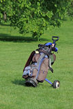 Golf cart / bag Stock Photography