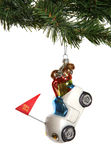 Golf Cart Christmas Ornament Stock Images