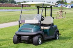 Golf cart or club car. At golf course Stock Images