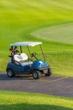Golf cart. Or club car at golf course Royalty Free Stock Photos