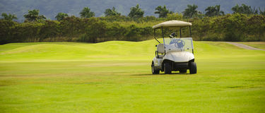 Golf cart. In the Golf Club in Hawaii, Kauai, USA Royalty Free Stock Image