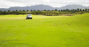 Golf cart. In the Golf Club in Hawaii, Kauai, USA Royalty Free Stock Images
