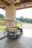 Golf cart at club house Stock Image