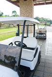 Golf cart at club house. View of golf cart at club house Stock Images