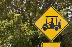 Golf Cart Crossing Royalty Free Stock Photos