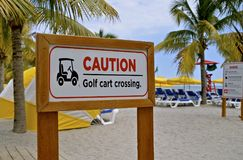 Golf Cart Crossing sign Stock Photography