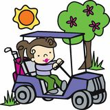 Golf Cart Driver Stock Image