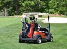 Golf cart on fairway Stock Photography