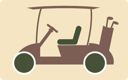 Golf cart or golf car icon  Stock Photos