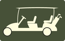 Golf cart or golf car icon  Royalty Free Stock Photography