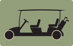 Golf cart or golf car icon Royalty Free Stock Images