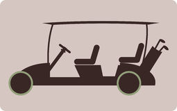 Golf cart or golf car icon Stock Image