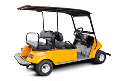 Golf cart isolated Stock Images