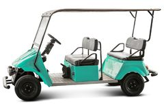 Golf cart isolated Stock Image