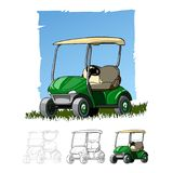 Golf cart sketch drawing