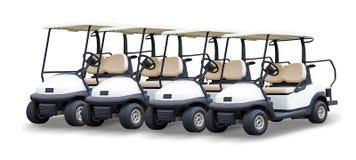 Golf cart golfcart isolated on white background.  stock photo