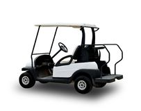 Golf cart golfcart isolated on white background.  royalty free stock photography
