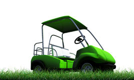 Golf cart. On green grass Royalty Free Stock Images