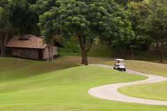 Golf Cart In Golf Course Stock Images