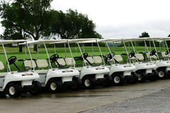 Golf Cart Parking Royalty Free Stock Photos