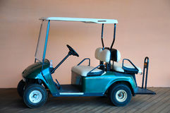 Golf cart. Parking near a hotel Royalty Free Stock Photography