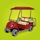 Golf cart pop art style vector illustration
