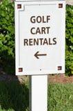Golf cart rentals sign Stock Photo