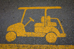 Golf cart road sign Royalty Free Stock Images