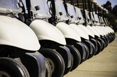 Golf Cart Row Stock Photos
