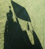 Golf Cart Shadow Stock Photo