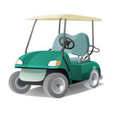Golf cart with shadow. Abstract isolated color vector illstration Stock Photo