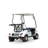 Golf cart. For traveling in golf course or any recreation place, isolated on white background with clipping path Stock Images