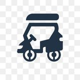 Golf cart vector icon isolated on transparent background, Golf c royalty free illustration