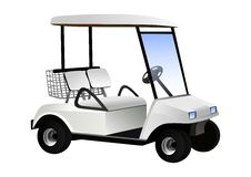 Golf cart. Vector illustration of golf cart isolated Royalty Free Stock Images