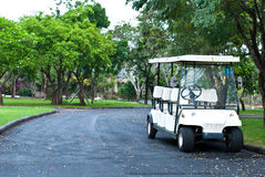 Golf cart waiting for passengers Royalty Free Stock Photo