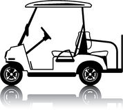 Golf Cart white. Illustrations clip-art vector Royalty Free Stock Photos