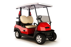 Golf cart on a white isolated background Royalty Free Stock Images